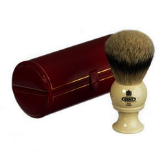 The GB Kent BK8 Pure Silver Tip Badger Hair Shaving Brush