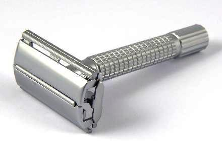 Timor Brushed Chrome Butterfly Safety Razor