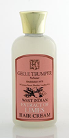 Geo F Trumper Extract of Limes Hair Creams in Plastic Travel Bottle (100ml)
