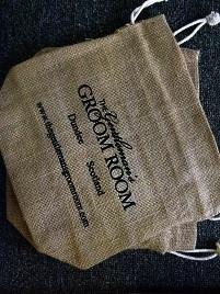The Gentleman's Groom Room Natural Jute Draw String Gift Bag