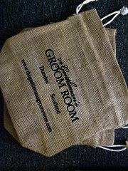The Gentleman's Groom Room Natural Jute Draw String Gift Bag