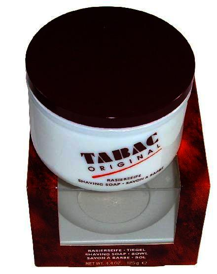Tabac Original Shaving Soap In Glass Shaving Bowl 125g