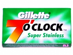 Gillette 7 O'Clock Super Stainless Razor Blades (Green) 5's