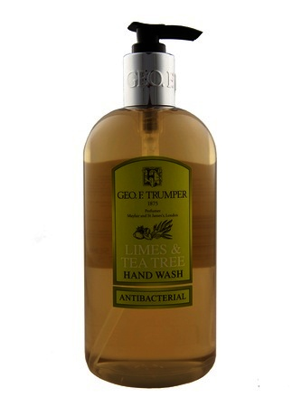Geo F Trumper Limes and Tea Tree Antibacterial Hand Wash contains lime and lemon tea tree oils 500ml