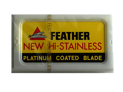 Feather New Hi-Stainless DE Razor Blades