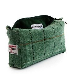 Harris Tweed D.R Harris'Town'Wash Bag Lg