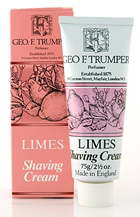 Geo F Trumper Extract of Limes Soft Shaving Cream in Stand Up Tube (75g)