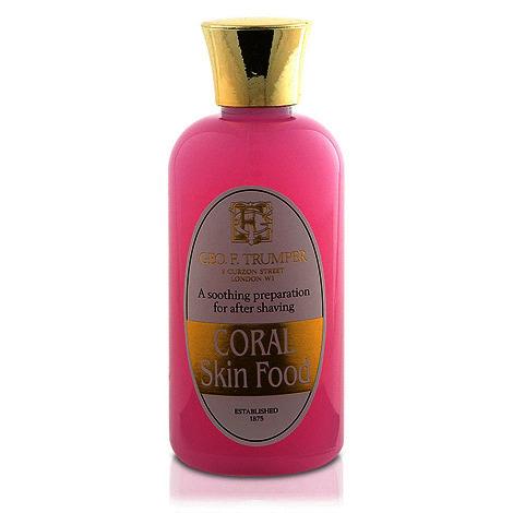 Geo F Trumper Coral Skin Food plastic travel bottle 100ml