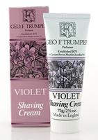 Geo F Trumper Violet Soft Shaving Cream in Stand Up Tube (75g)