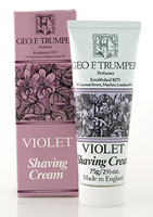 Geo F Trumper Violet Soft Shaving Cream in Stand Up Tube (75g)